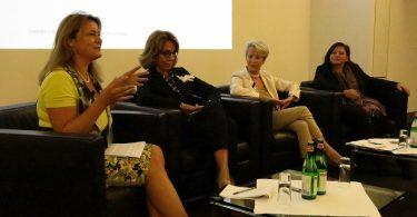 Anke Dembowski, Fondsfrauen; Charlotte Bänninger, UBS, Dr. Fleur Platow, Dr. Anja Hochberg, Credit Suisse